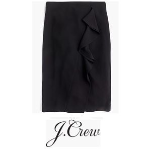 NWT J. Crew 365 Crepe Ruffle Pencil Skirt